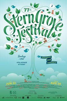 Stern Grove Poster 2014 Design/Creative Direction: MINE™ Illustration: Jessica Hische