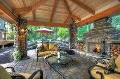 Awesome outdoor living space; just put it on the center of an island :)