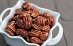 candi pecan, cook, appet, paleo candied pecans, food, candied nuts, honey, dessert, treat