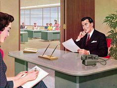 Illustration from Mode-Maker Metal Business Furniture catalog, circa 1960. #vintage #office #secretary #1950s #1960s