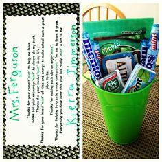 Kierra's Teacher Appreciation Day gift she gave to her teacher