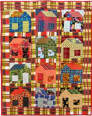 plaid house #quilt