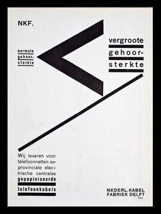 Piet Zwart work for the Nederlandse Kabel Fabriek, ∼1927.
