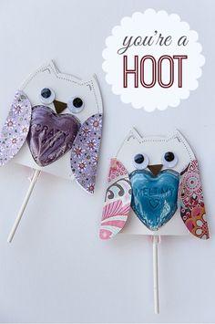 Lollipop Owls for Kids Pinned by www.myowlbarn.com