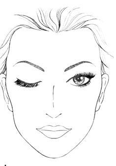 Шаблон трафарет макияжа