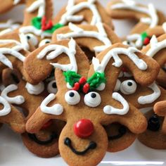 Make reindeer cookies from upside-down gingerbread men