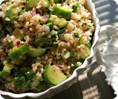 Persian Cucumber and Brown Rice Salad