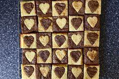 Heart brownies.