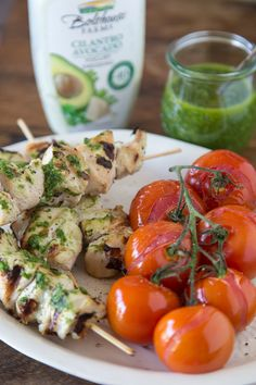 Cilantro Avocado Grilled Chicken