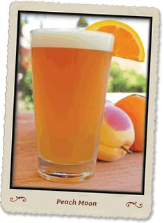 Peach Moon (Blue Moon, Peach Schnapps & Orange Juice). Um, yes please!