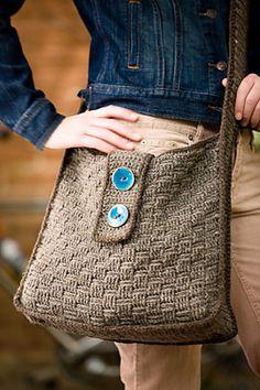 Basketweave Bag Crochet Pattern