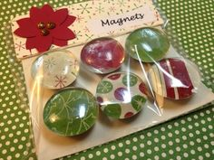 Christmas Magnets using Stampin Up DSP