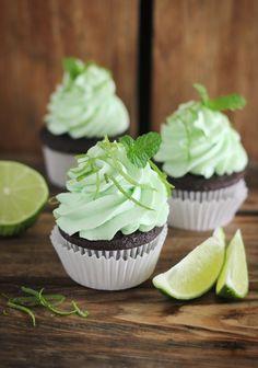 Sprinkle Bakes: Chocolate Mojito Cupcakes