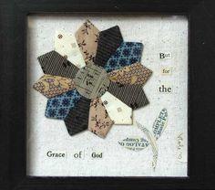 dresden framed idea, craft, poni studio, dresden flower, gallop poni, quilt, flower frame, dresden plate, dad tie