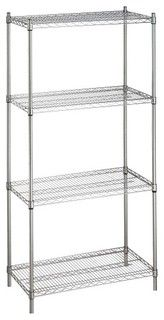 Wire Metal Shelves Racks Storage Unit Systems: Our high quality and affordable home and office Nexel wire metal shelving storage solutions are electro-plated nickel-chrome, thus resulting in a really brilliant high glass finish.