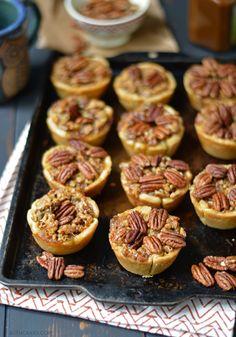 Mini Bourbon Pecan Pies - bethcakes.com