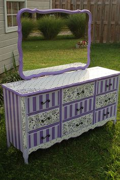For a little girls bedroom <3 But I'd use pink or teal instead of purple.