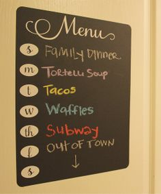 Fancy Menu Chalkboard Wall Decal
