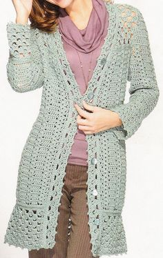 Cozy Crochet Coat by HooksandNeedles, via Flickr