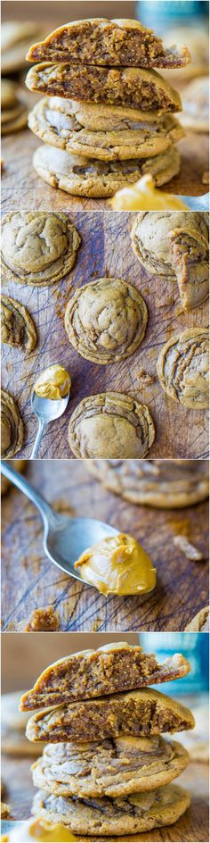 Softbatch Cookie Butter Brown Sugar Cookies - Bake with your Cookie Butter/Biscoff rather than just eating it by the spoonful! No butter used in these super soft cookies! Easy recipe at averiecooks.com