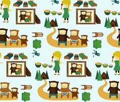 Goldilocks and the Three Bears fabric by carrie-anne's_designs on Spoonflower - custom fabric