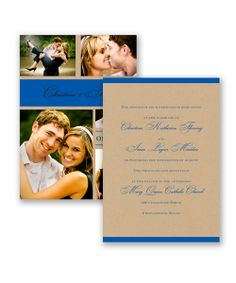 Photo Kraft Love Wedding Invitation by David's Bridal