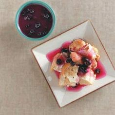 Slow-Cooked Blueberry French Toast Recipe from Taste of Home -- shared by Elizabeth Lorenz of Peru, Indiana