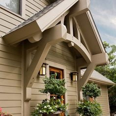 """Craftsman Portico Side Door"""" Maybe off onto the back deck?"""
