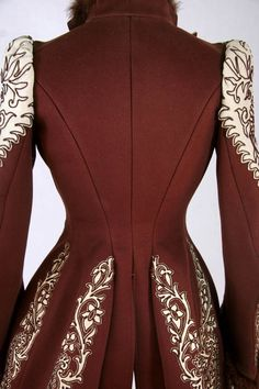back view of 1890s jacket.