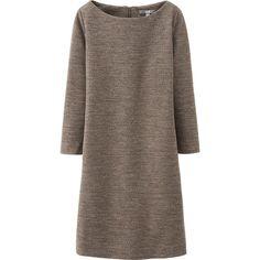WOMEN WOOL PONTE DRESS   Uniqlo