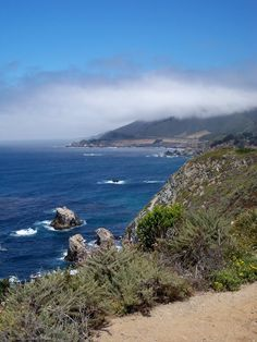 Highway 1 along the coast of California