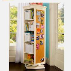 Bookshelf on a lazy Susan!