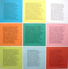 """Jenny Holzer, Inflammatory Essays - """"fear is the most elegant weapon, your hands are never messy"""""""