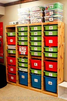 Toy Storage using Ikea Trofast
