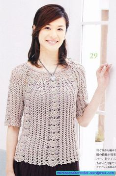 Ohhhhh I like this one!! it has a flattering lacy pattern! - free crochet diagrams and lay outs!