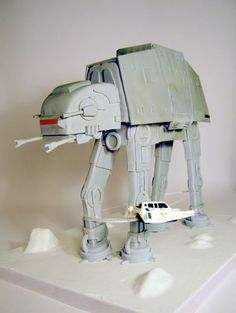 Nerd cake design an Imperial AT-AT from Star Wars