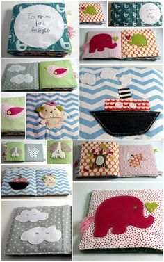 Love this idea. Baby's first fabric book. Ship