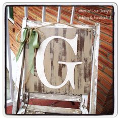Letter Initial Wood Sign - Letter G Initial - Wedding Gift, Birthday, Christmas Present or your own decor.  Door Art   by LettersOfLoveDesigns, $30.00