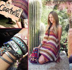 #coachella coachella, bracelets, festivals, dresses, the dress, boho, fashion bloggers, arm candies, bags
