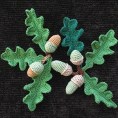 PDF crochet pattern by Miranda Roberts - acorns and oak