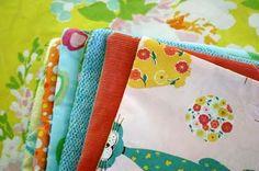 : textured baby cloths