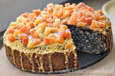 Poppy-seed cake with apples from Poland, link to recipe