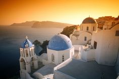 Oia, a great town on Santorini. No cars allowed as the walkways are far too narrow. It is home to many artists and artisans.
