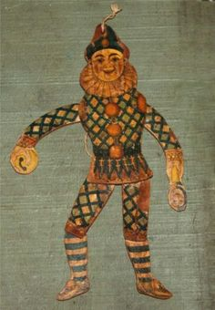 Antique Early Victorian Wood Jumping Jack Man Toy Ornament