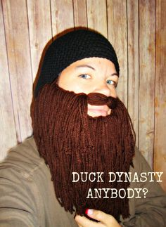 Duck Dynasty Inspired Beard and Cap Crochet by xoxoTouchOfLovexoxo, $40.00