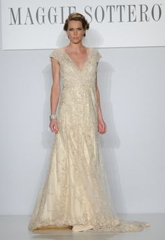 Maggie Sottero Spring 2014 Wedding Dresses - I love how Downton/Gatsby they are!