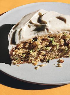 Zucchini-Pecan Cake with Cream Cheese Frosting Recipe  at Epicurious.com