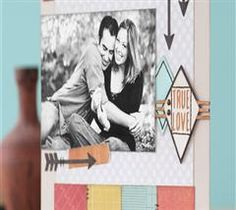 Showcase your true love with this trendy layout!
