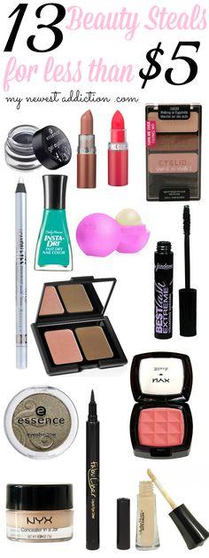 Beauty Steals Under $5 - My Newest Addiction Beauty Blog #beautysteals #mynewestaddiction #drugstorebeauty
