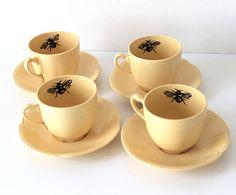 Queen Bee coffee cups by yvonneellen on Etsy, $52.00